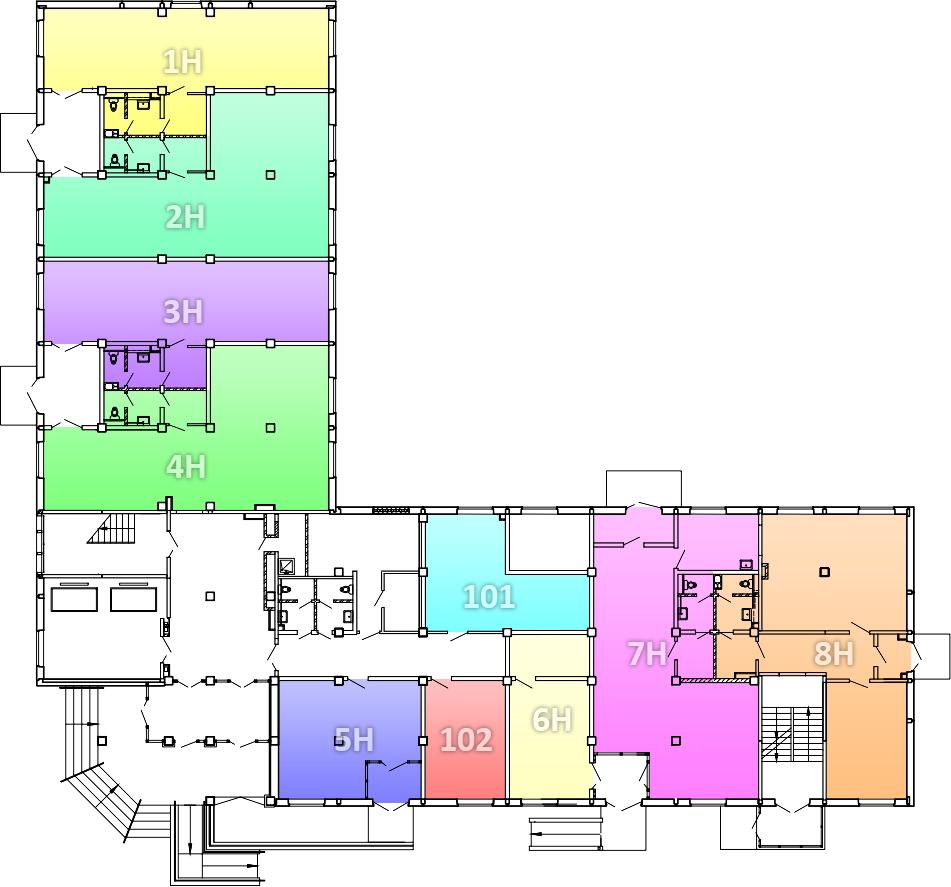 план-схема офисного помещения